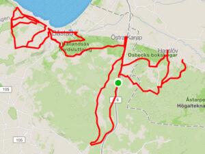 Båstad - Cykelrute - 100km - Top 10 stigninger