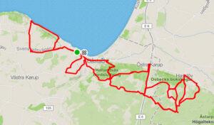 Båstad - Cykelrute - På kryds og tværs