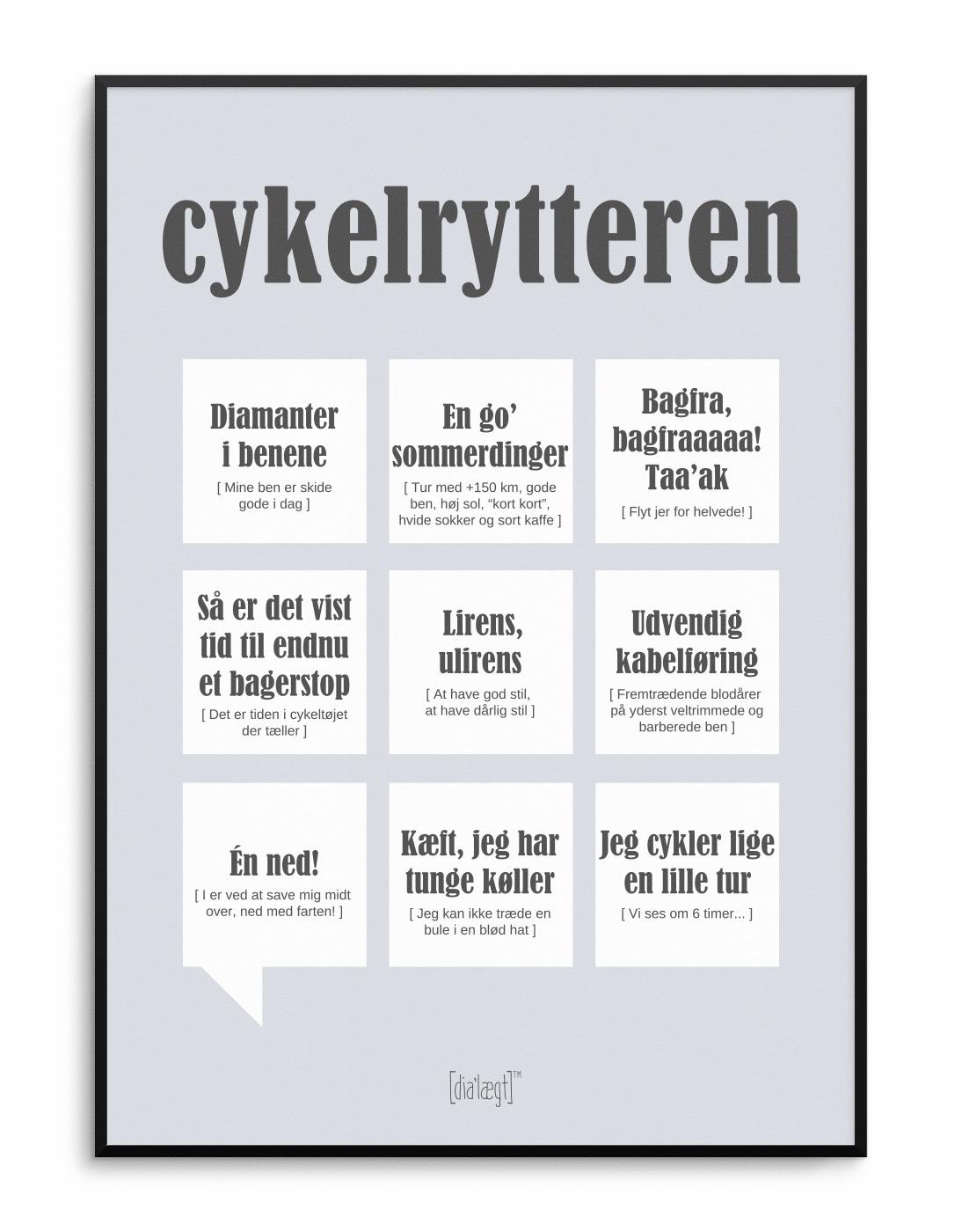 Dialægt Cykelrytteren plakat