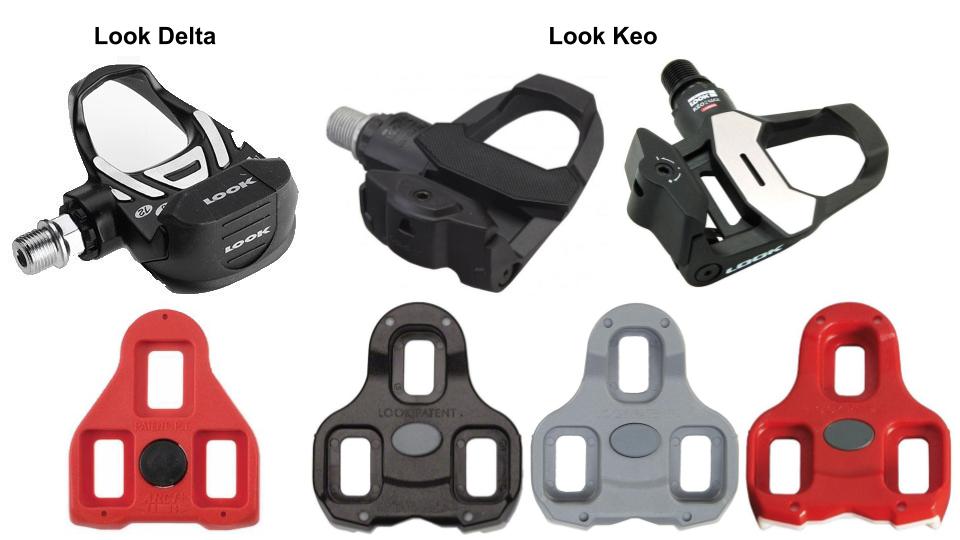 Look Delta og Keo pedaler samt klamper